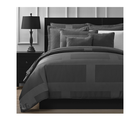6. Comfy Bedding Gray 5-Piece Comforter Set