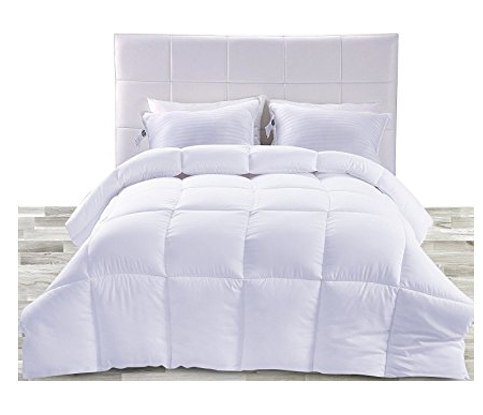 2. Utopia Bedding Queen White Down Alternative Comforter