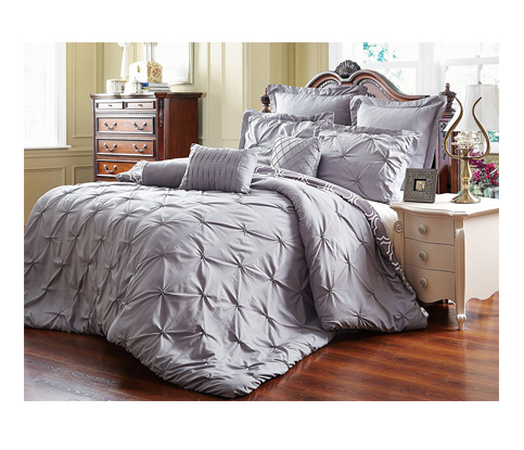 5. Unique Home 8 Piece Comforter Set (Queen, Grey)