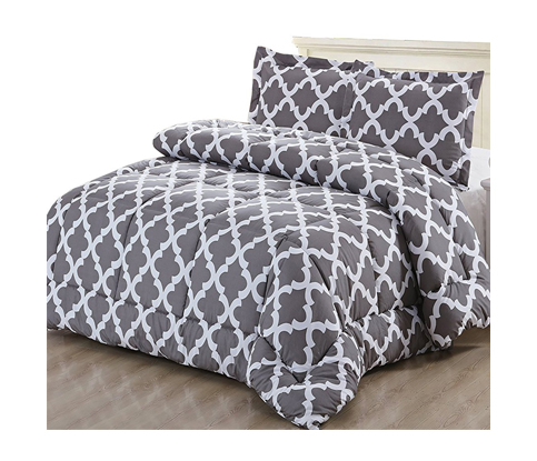 4. Utopia Bedding Printed Comforter Set