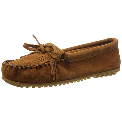 2. Minnetonka Women's Kilty Suede Moccasin