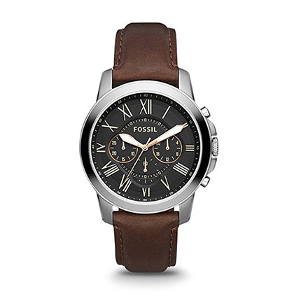 10. Fossil Fs4813p Brown Leather Watch for Men