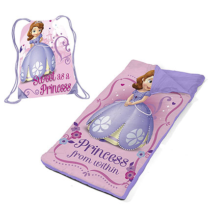 6. Disney Sofia The First Slumber Bag Set