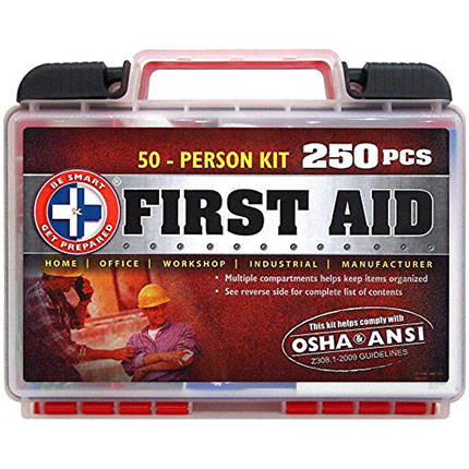 1. Be Smart Get Prepared 250 Piece First Aid Kit