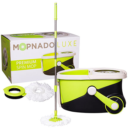 2. Mopnado Lime Rolling Spin Mop with 2 Mop Heads