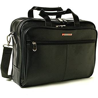 3. Alpine Swiss Top-Zip Laptop Messenger Bag