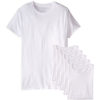 3. Fruit of the Loom 6-Pack Men's Crew T-Shirt