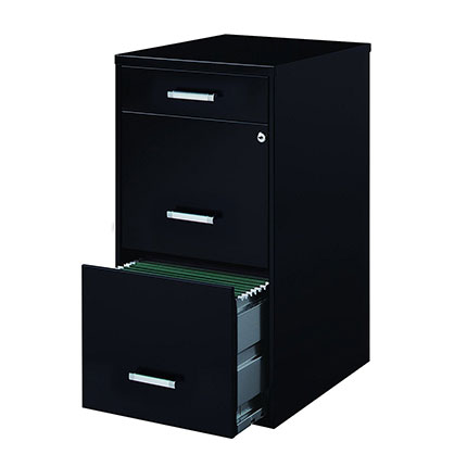 "1. Hirsh Industries 18"" Deep File Cabinet with Pencil Drawer"