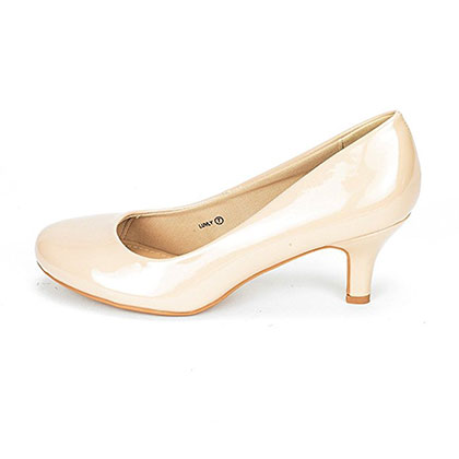 3. DREAM PAIRS LUVLY Women's Low Heel Pump Shoes