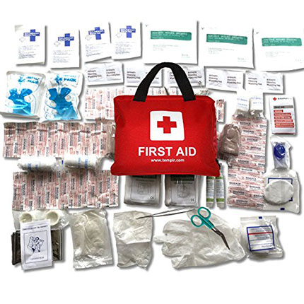 8. TempIR Premium First Aid Kit (108 Pieces)