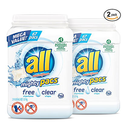 7. all Mighty Pacs Laundry Detergent (134 Total Loads)