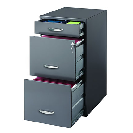 5. CommClad 3 Drawer File Cabinet in Charcoal