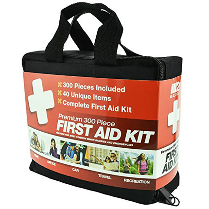 3. M2 BASICS 300 Piece First Aid Kit w/Bag
