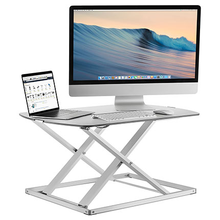 6. Mount-It! Height Adjustable Sit Stand Desk