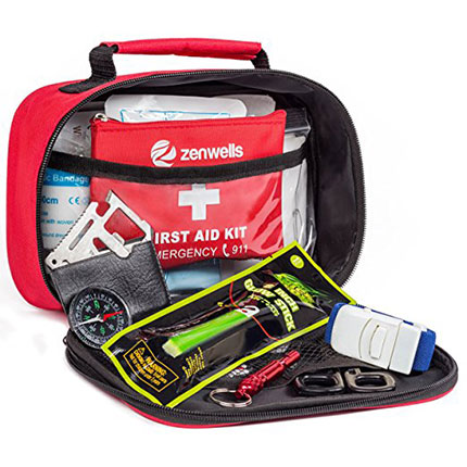 10. Zenwells First Aid Kit & Emergency Bag