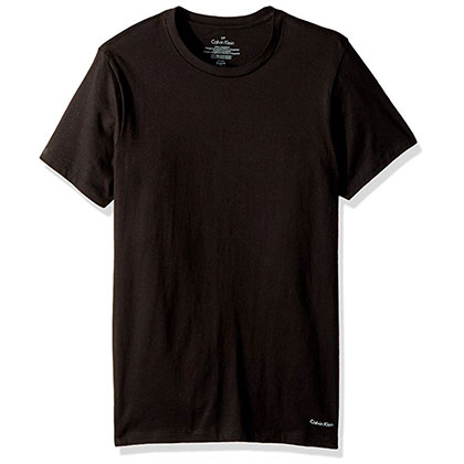 8. Calvin Klein Men's Undershirts Crew Neck T-Shirts