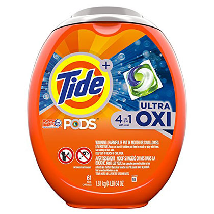 8. Tide Pods Liquid Detergent Pacs (61 Count)